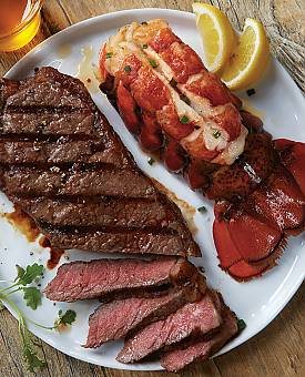 Lobster and KC Strip